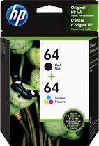 HP 64 Ens. 2 cartouches d'encre noir et tricolore d'origine (X4D92AN)