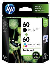 HP 60 Ens. 2cartouches d'encre noire et tricolore d'origine (N9H63FN)