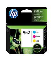HP 952 Ens. 3 cartouches d'encre cyan, magenta et jaune d'origine (N9K27AN)