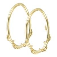 10k Yellow Gold Hoop Earrings
