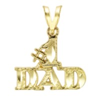 "10k Yellow Gold ""#1 Dad"" Charm"