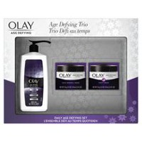 Olay Age Defying Classic Cleanser, Daily Renewal Cream & Night Cream Gift Set