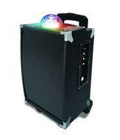 Sharper Image On-The-Go Rechargeable Wireless Karaoke Disco Speaker