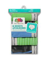 Fruit of the Loom Boys' Fashion Briefs, 5-Pack S