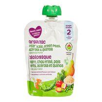 Parent's Choice Organic Pear Kale Green Peas Acerola and Quinoa Blend Baby Food Purée