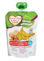 Purée biologique pour bébé Le Choix du Parent à saveur de pomme, poire, courge musquee et banane
