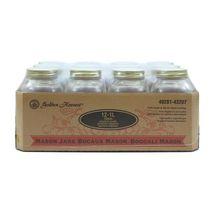 Golden Harvest à bouche régulière Bocaux en verre de 1 litre , avec couvercles et bandes, 12 unités