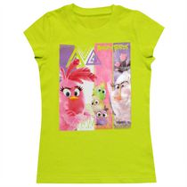Angry Birds Girls' Short Sleeve Crew Neck T-shirt Green S-7/8