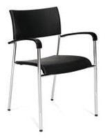 Offices to Go Dori Stacking Chair with Arms