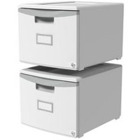 Storex One Drawer Mini File Cabinet with Lock
