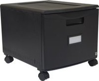 Storex One Drawer Mini File Cabinet with Lock & Casters
