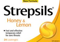 Strepsils Honey & Lemon Sore Throat Lozenge