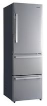 "Galanz 24"" 3 Door Bottom Freezer Refrigerator, 12.4 cu.ft., Counter Depth, Stainless Steel"