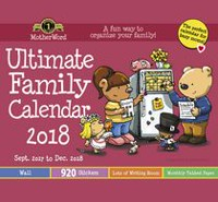 MotherWord® Ultimate Family Calendar - Small (Wall Tabbled Verision) 2018, English