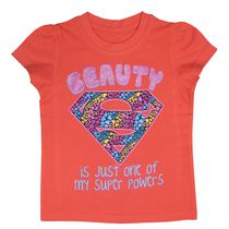 Supergirl Girls' Short Sleeve Tee Shirt 4T