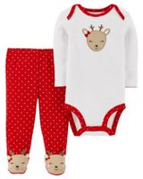 Child of Mine made by Carter's Infant Girls' Body Suit Pant Set-Renne 6-9 months