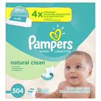 Pampers Baby Wipes Natural Clean 16X Refill