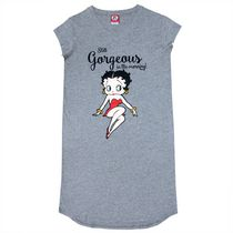 Betty Boop Women's Short Sleeves V-Neck Night Shirt M/M