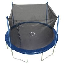 TRAINOR SPORTS 12-feet Round Trampoline & Enclosure Combo Heavy Duty Bouncy Outdoor/Backyard Trampoline for Children (6+), Adults Jumping Mat and Full Coverage Spring Padding | 18201920120