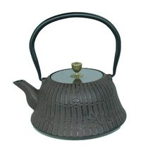Cuisiland Moso Bamboo 1.2 L (40 oz.) Cast Iron Teapot Set Brown