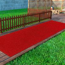 Evergreen Collection Solid Design Non-Slip Runner Rug, 2 ft.  in. x 5 ft.  in., Red