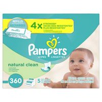 Pampers Baby Wipes Natural Clean 5X Refill