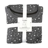 George Women's 2-Piece Waffled Sleep Set Dark Grey L
