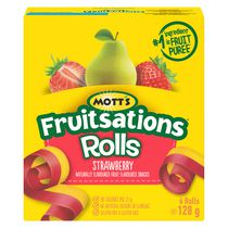 Mott's Fruitsations* Rolls - Strawberry Fruit Flavoured Snacks