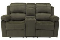 Primo International Selena Reclining Loveseat with Console