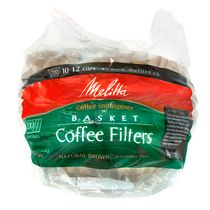 Melitta 10-12 Cup Basket Paper Natural Brown Coffee Filter