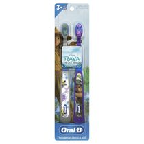 Oral-B Kid's Toothbrush featuring Disney's Raya and the Last Dragon, Soft Bristles, for Children and Toddlers 3+