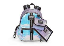 """Justice™ Brand Girls Silver Sequin Multi Compartment 17"""" Backpack Value Set Includes Insulated Lunch Bag and Pencil Case"""