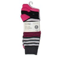 George Ladies' Crew Socks - Pack of 4 Black