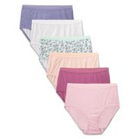 Fruit of the Loom Ladies Assorted Colours Cotton Briefs, 6-Pack 8