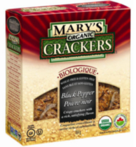 Mary's Gluten Free Black Pepper Organic Crackers