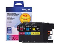 Brother LC 1033PK Cyan, Magenta and Yellow Ink Cartridge