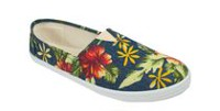 George Women's Lulu Slip-on Canvas Loafers Floral Print 6
