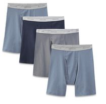 Fruit of the Loom Men's Assorted Blues Boxer Briefs, 4-Pack M/M