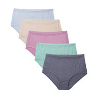 Fruit of the Loom Ladies Fit for Me Beyond Soft Briefs, 5-Pack 10