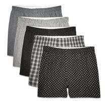 Fruit of the Loom Men's Prints & Stripes Boxer Shorts, 5-Pack M