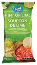 Great Value Hint of Lime Flavoured Tortilla Chips