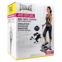Everlast Mini Twist Steppers with Resistance Tubing