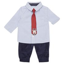 George British Design Baby Boys' Shirt Tie And Pant Set 18-24 months