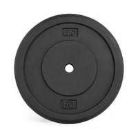 CAP Barbell 1-Inch Cast Iron Weight Plate, Black, Single, 50 Lbs