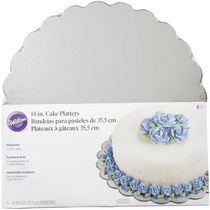 "Wilton Round Silver Treat Platters 14"" - 6 pack"
