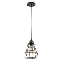 Globe Electric 1-Light Oil Rubbed Bronze Vintage Caged Pendant