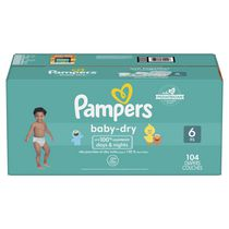 Couches Pampers Baby Dry, format Super Economique