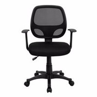 Nicer Furniture Nicer Furniture Mid-Back Black Mesh Computer Desk Chair with Arms