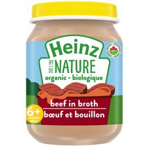 Heinz by Nature Organic Baby Food - Beef in Broth Purée