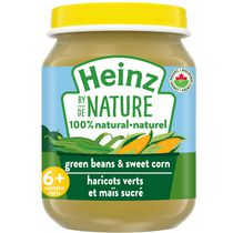 Heinz by Nature 100% Natural Baby Food - Organic Green Beans & Sweet Corn Purée